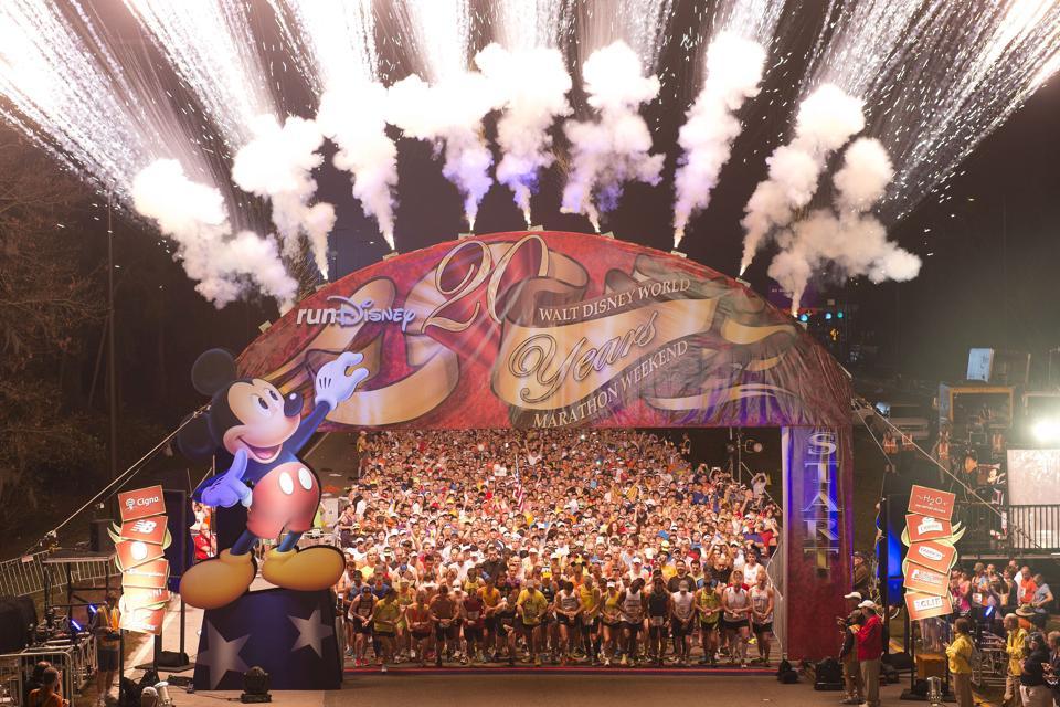 The annual Walt Disney World Marathon has a festival-like atmosphere (Preston Mack/Disney Parks via Getty Images)