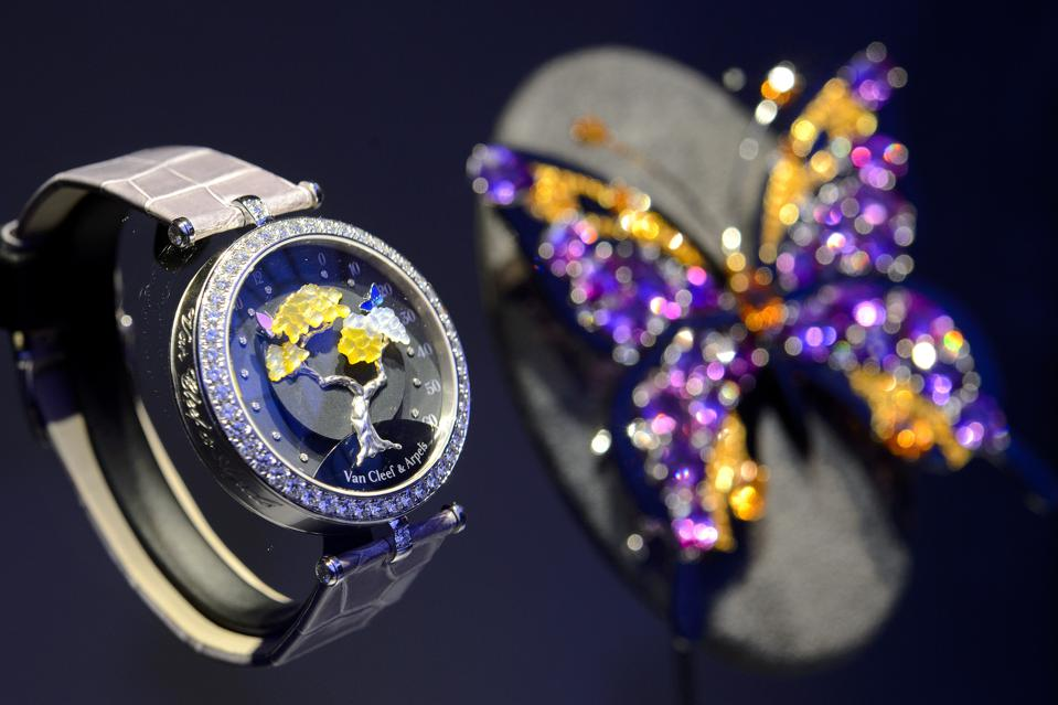 Brooch and watch by Van Cleef & Arpels use a more ethical supply chain for gemstones