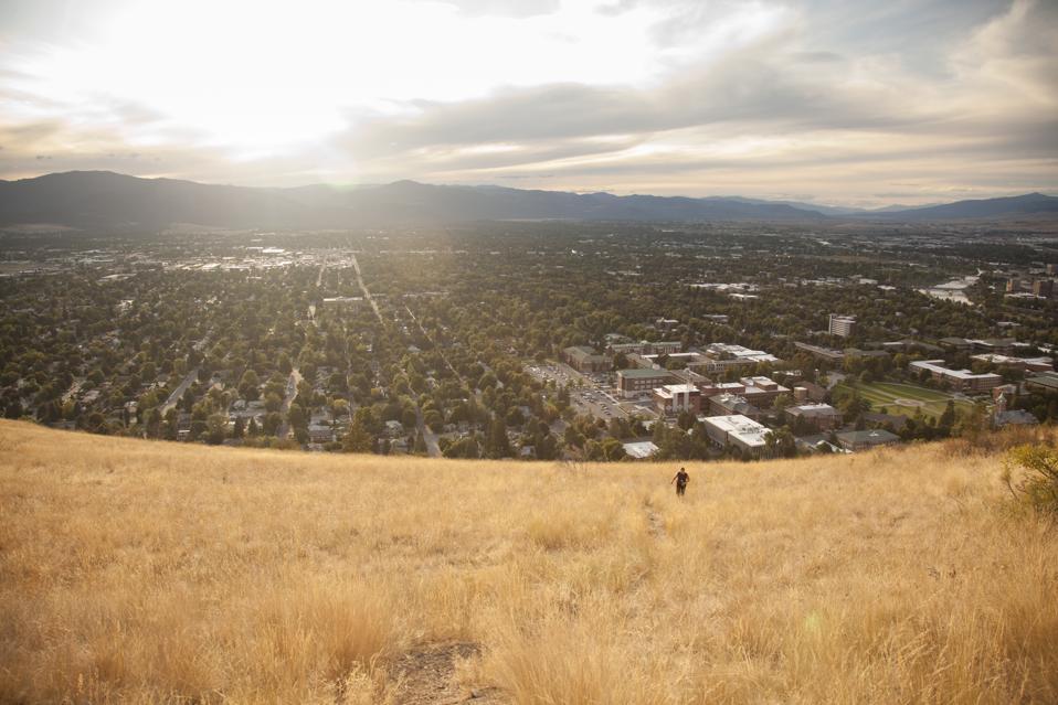 Hiking above Missoula, Montana