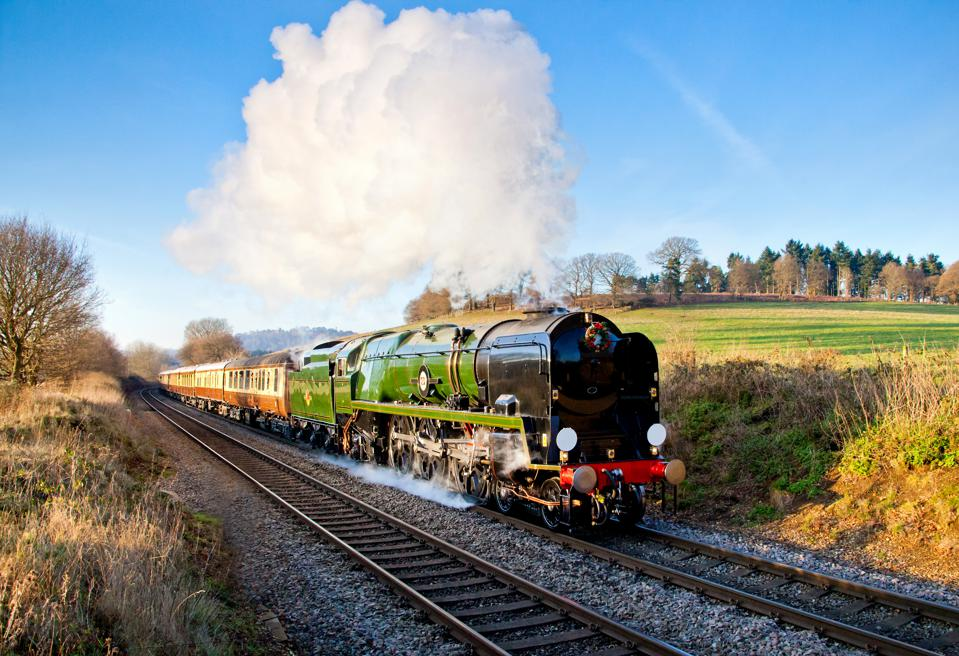 Steam Train, pulling the Orient Express