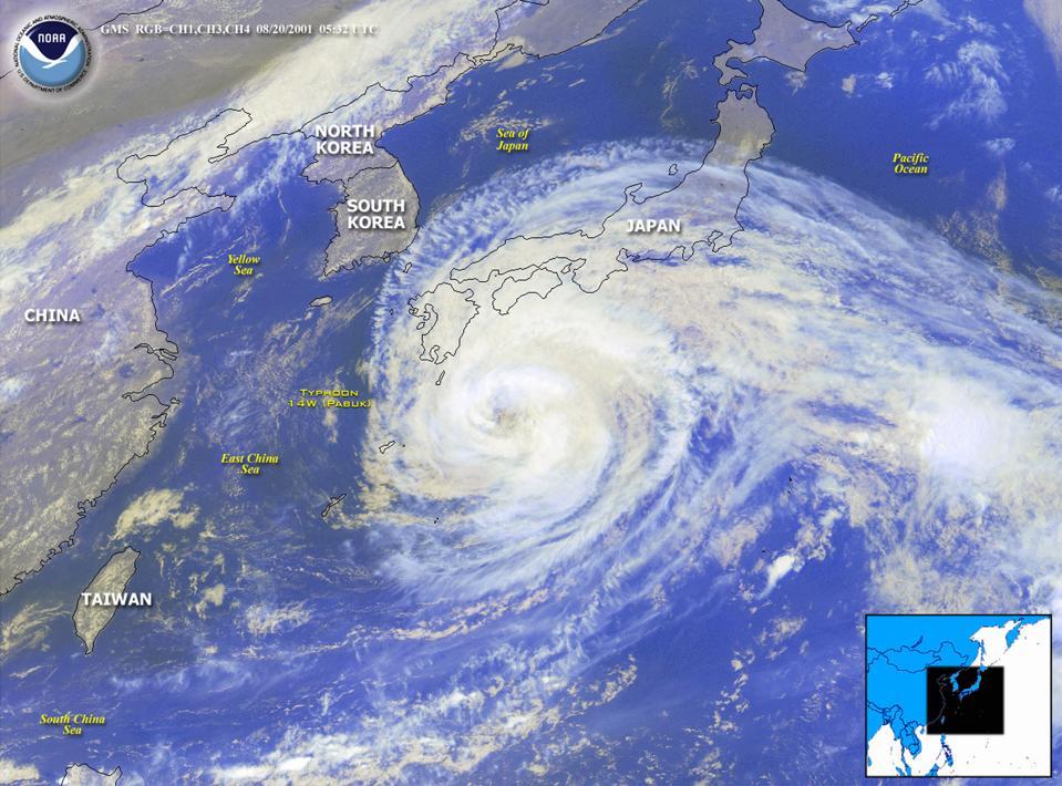 Typhoon Pabuk Approaches Japan