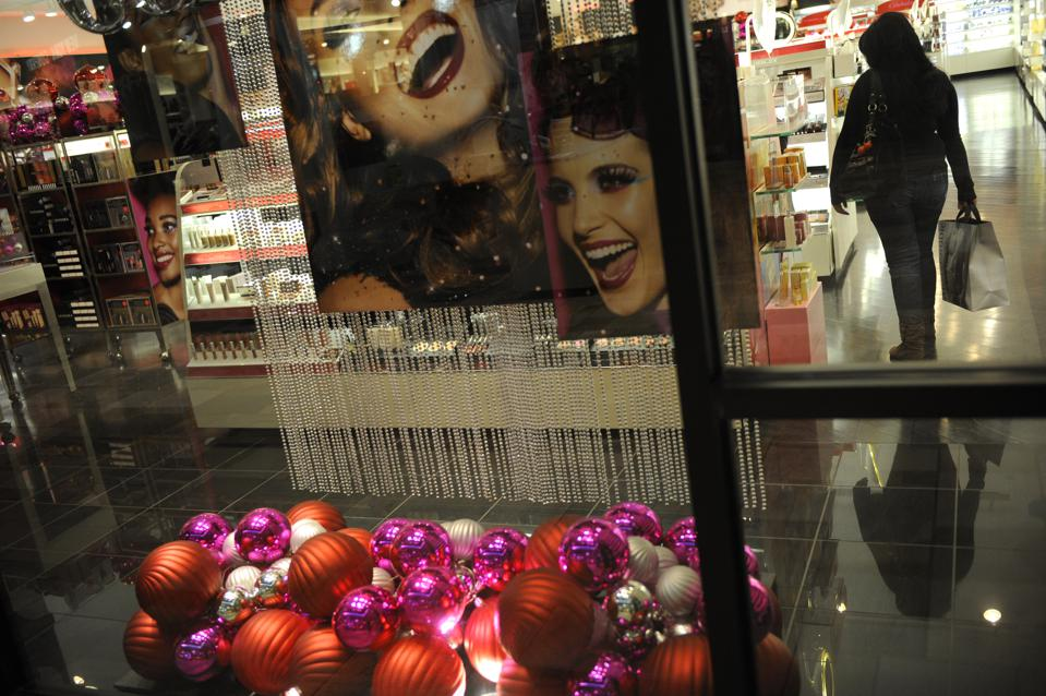 A shopper looks at women's make up inside Sephora at the Flatirons Mall. Holiday shopping is under way at local malls. Shoppers hit Flatirons Mall in Broomfield taking advantage of the middle of the week and an early start on the shopping season. Helen H.