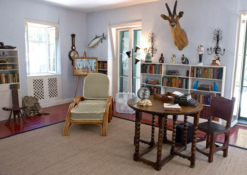 Ernest Hemingwayu0027s Writing Loft Furnished With Some Of His Collectibles.  (Photo By Karen Bleier/AFP/Getty Images)