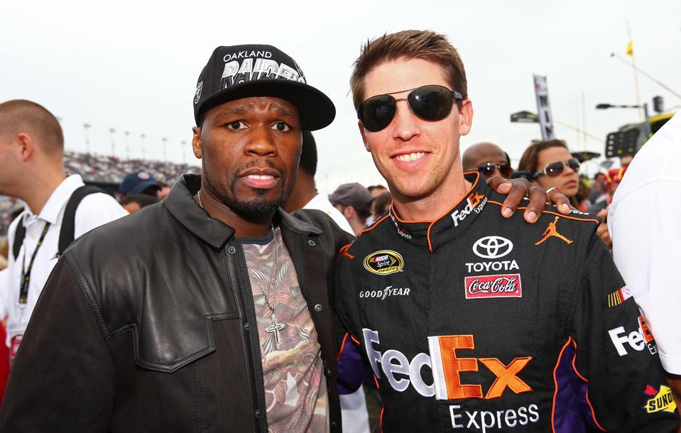 Denny Hamlin and 50 Cent