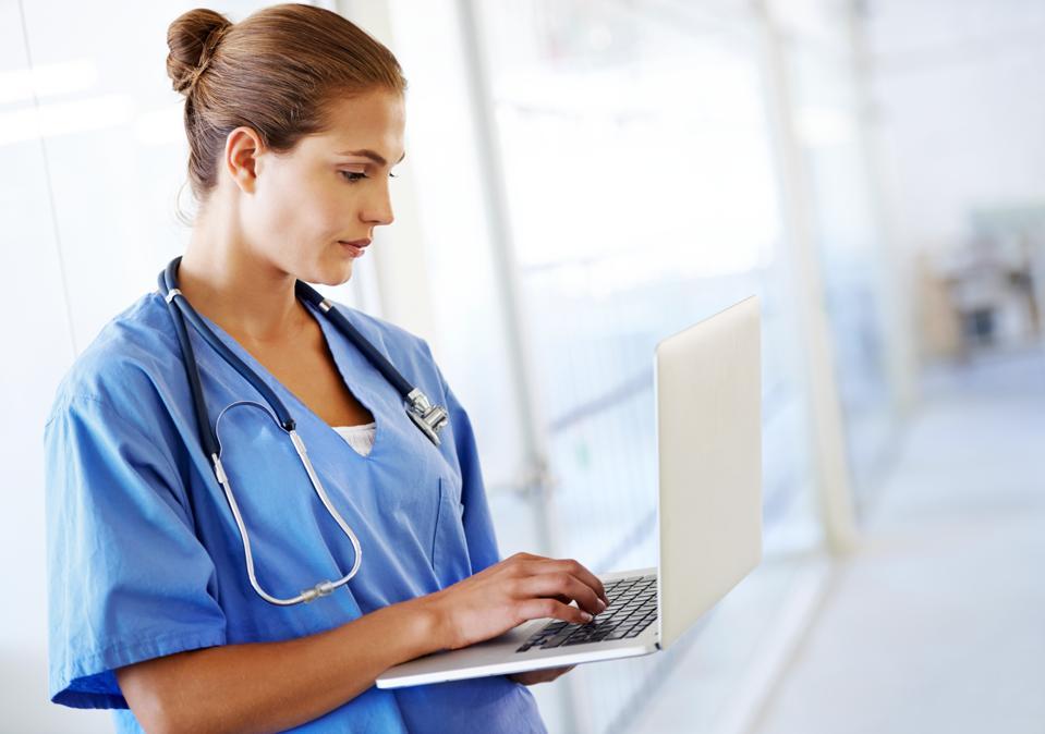 Updating her patient list