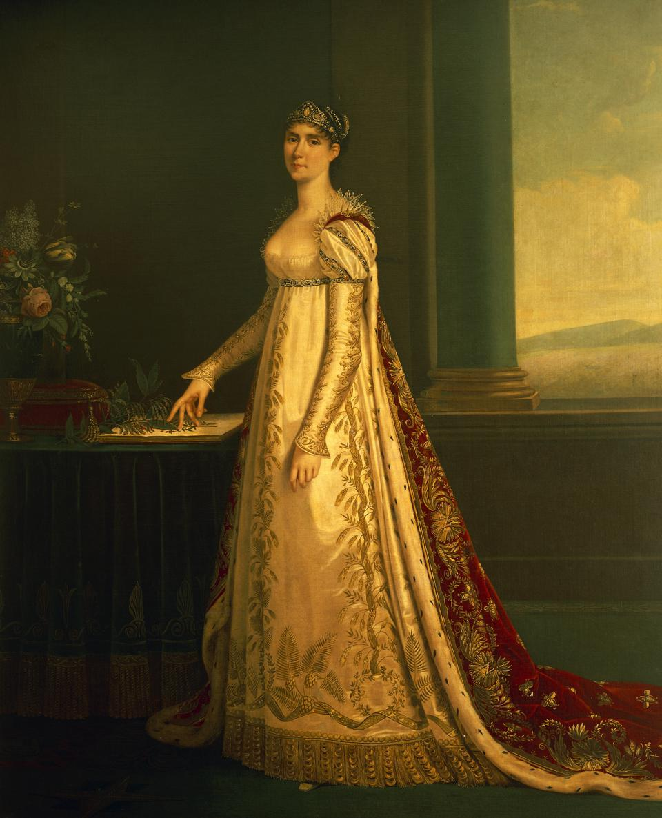 Josephine Bonaparte and Josephine de Beauharnais UNSPECIFIED - DECEMBER 16: Portrait of Josephine Bonaparte or Josephine de Beauharnais (Les Trois-Ilets, 1763-Paris, 1814), 1805, first wife of Napoleon Bonaparte, Empress of France. Painting attributed to Robert Lefevre (1755-1830), oil on canvas, 216x175 cm. Rome, Museo Napoleonico (Napoleon Museum) (Photo by DeAgostini/Getty Images)
