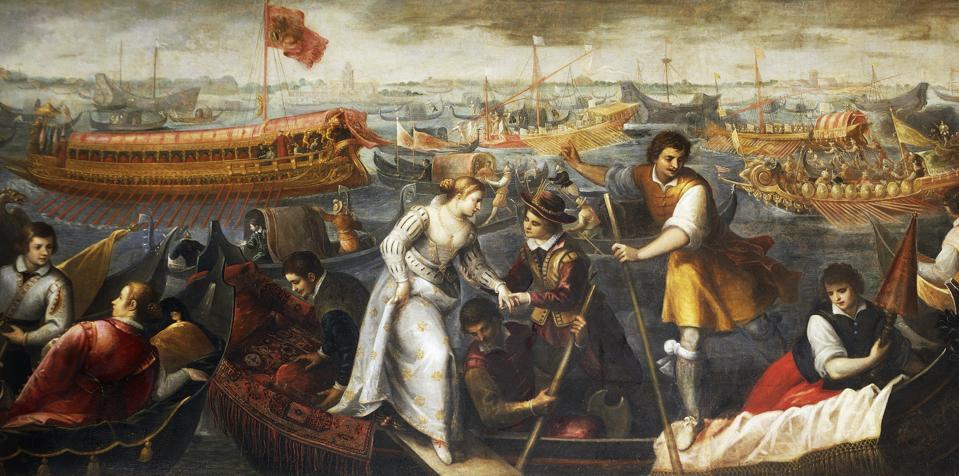 Arrival of the Queen Caterina Cornaro in Venice...