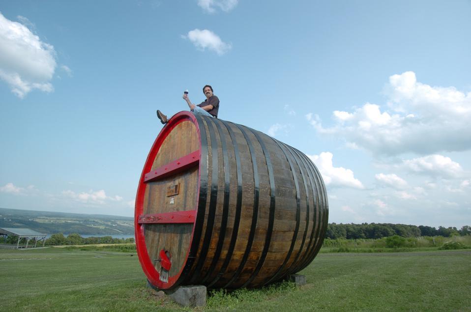 07/01/04. Photo099535 Wines of the Finger Lakes. Winemaker Steve diFrancesco of Glenora Wine Cellars