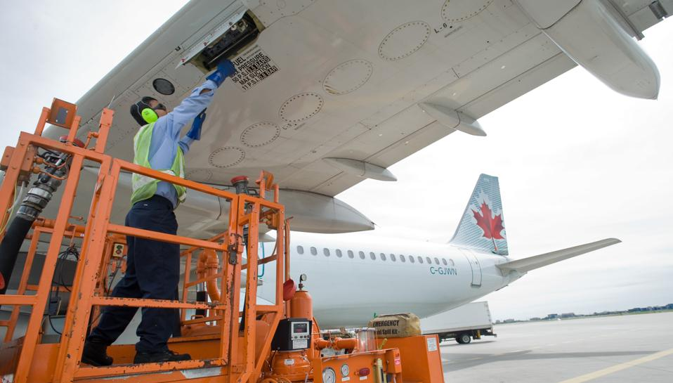 08/26/08 - MISSISSAUGA, ONTARIO - Ahmad Shah, 21, a serviceman with Consolidated Aviation Fueling of