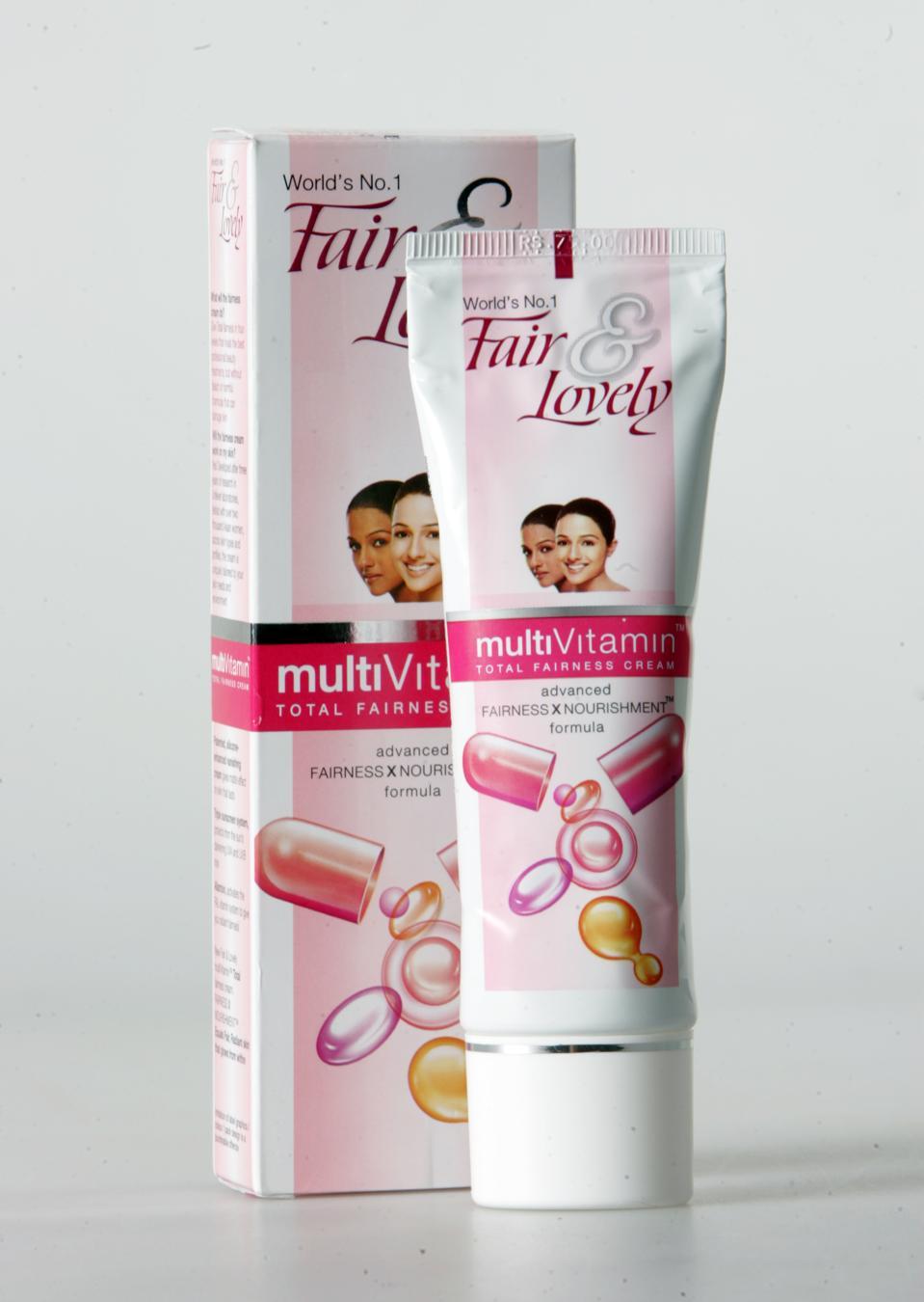 28/02/07-FAIR AND LOVELY CREAM-Product shot of tube and box of Fair & Lovely skin lightener, sold in