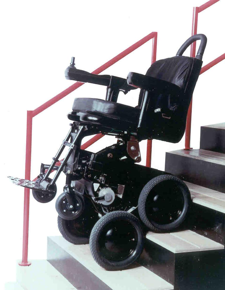 Toyota 39 s idea of mobility includes stair climbing for Motorized wheelchair stair climber
