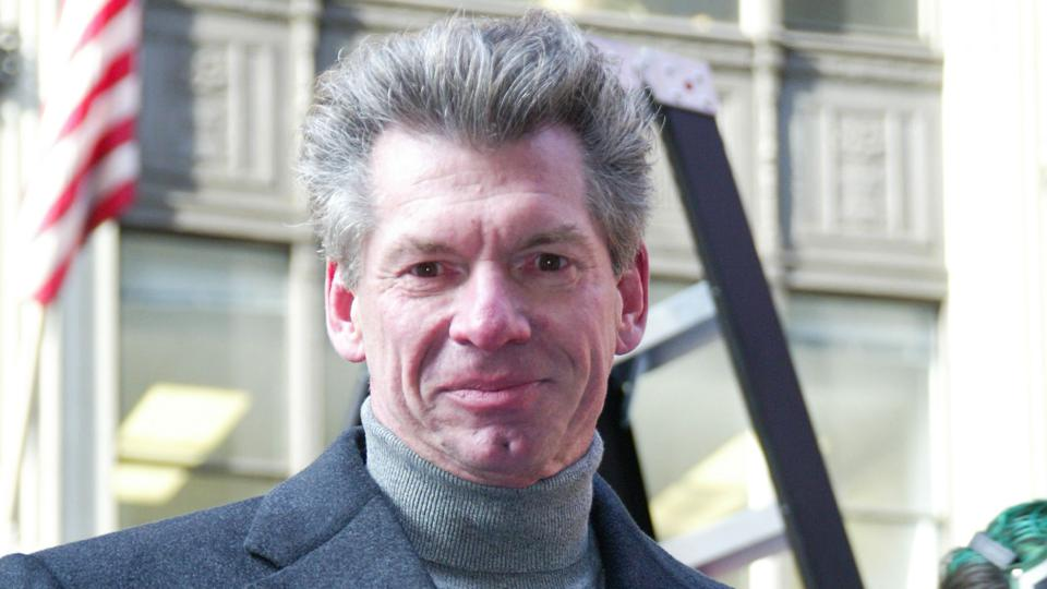 Vince McMahon just 6 months after changing the WWF's name to WWE over legal issues.