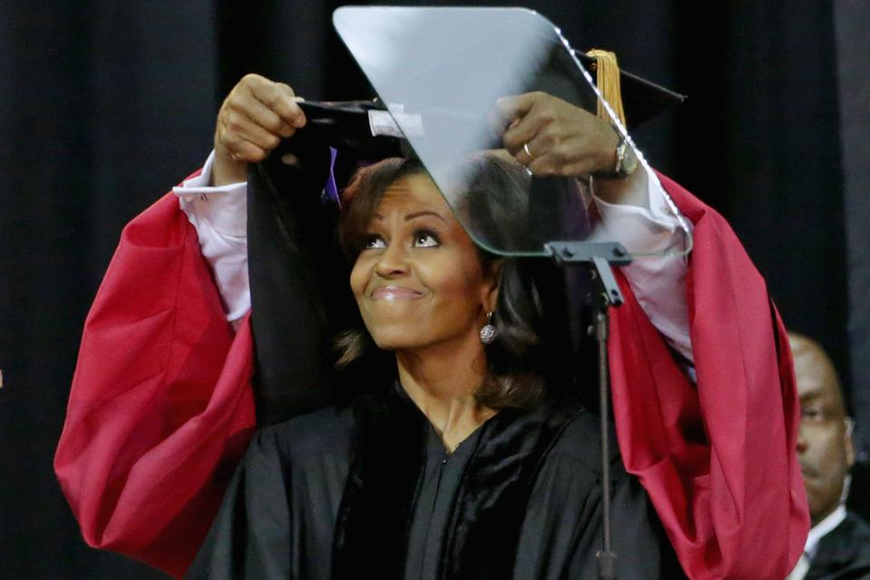 Michelle Obama Gives Speech At Bowie State University Commencement