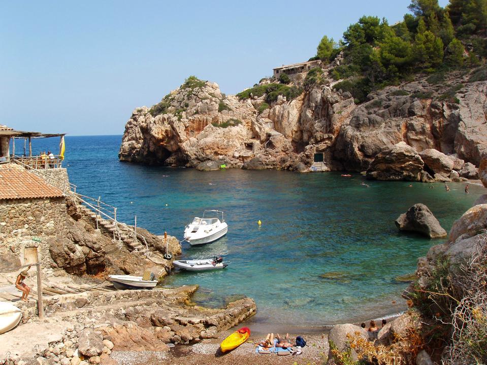 The Small Cove Of Deia In Mallorca