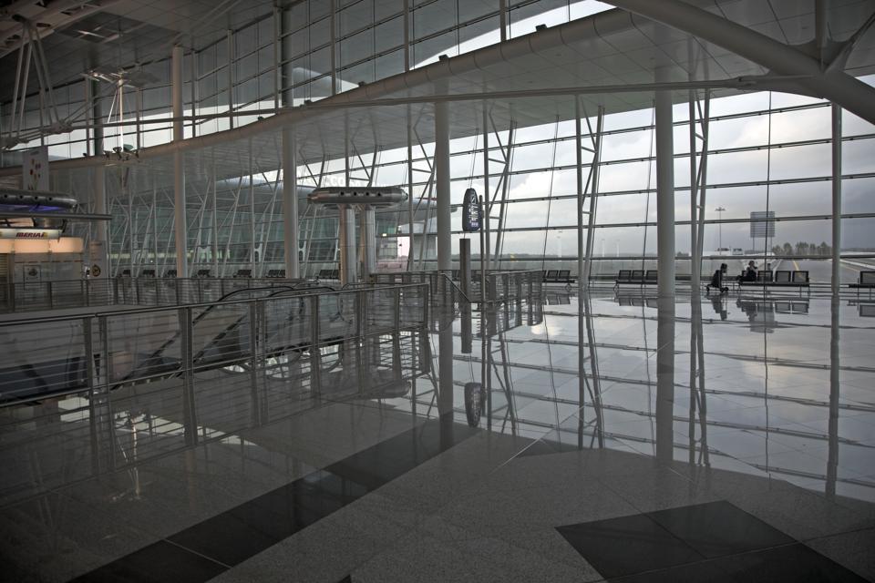 Modern architecture design Francisco S Carneiro Airport Oporto, Porto, Portugal