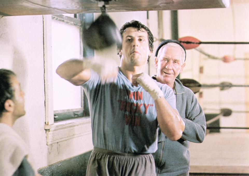 Sylvester Stallone, Burgess Meredith In 'Rocky'