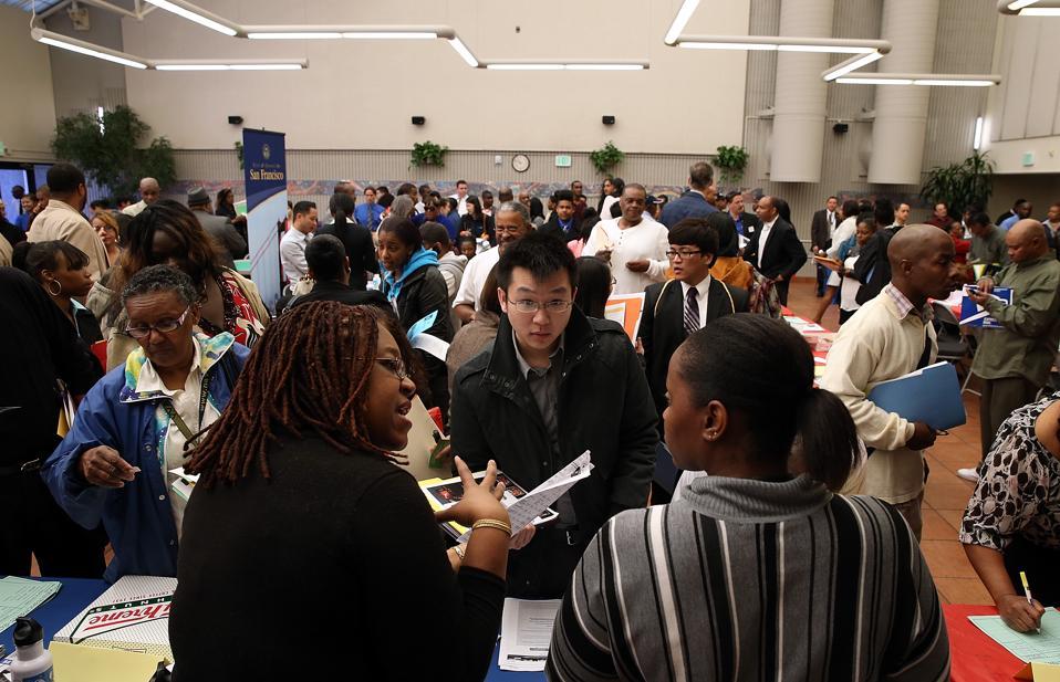 Job Seekers Attend Career Fair In San Francisco