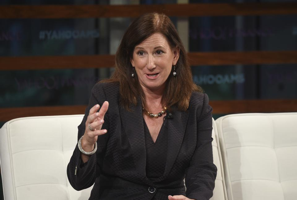 Cathy Engelbert in September. She takes over as the WNBA's commissioner today.