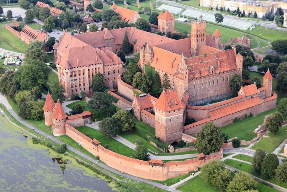 Aerial View of Malbork Castle