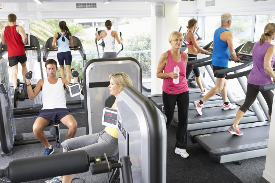 Busy January gym