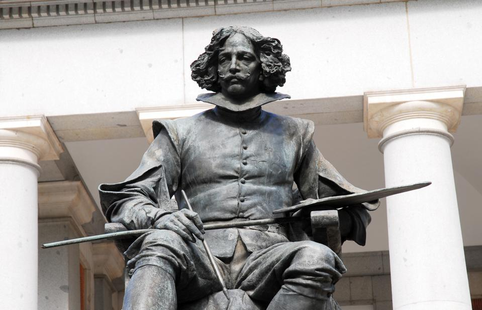 Statue of Diego Velazquez at Prado Museum, Madrid