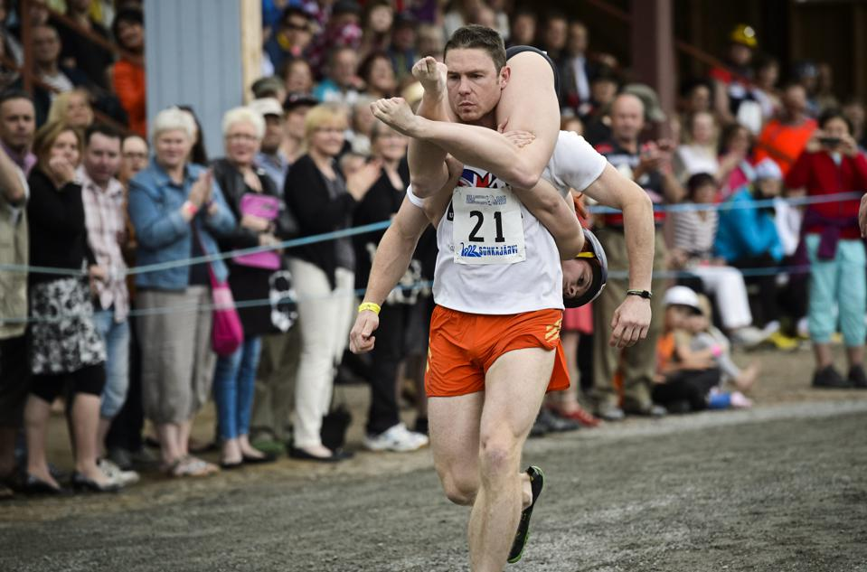 Wife Carrying Competition in Finland