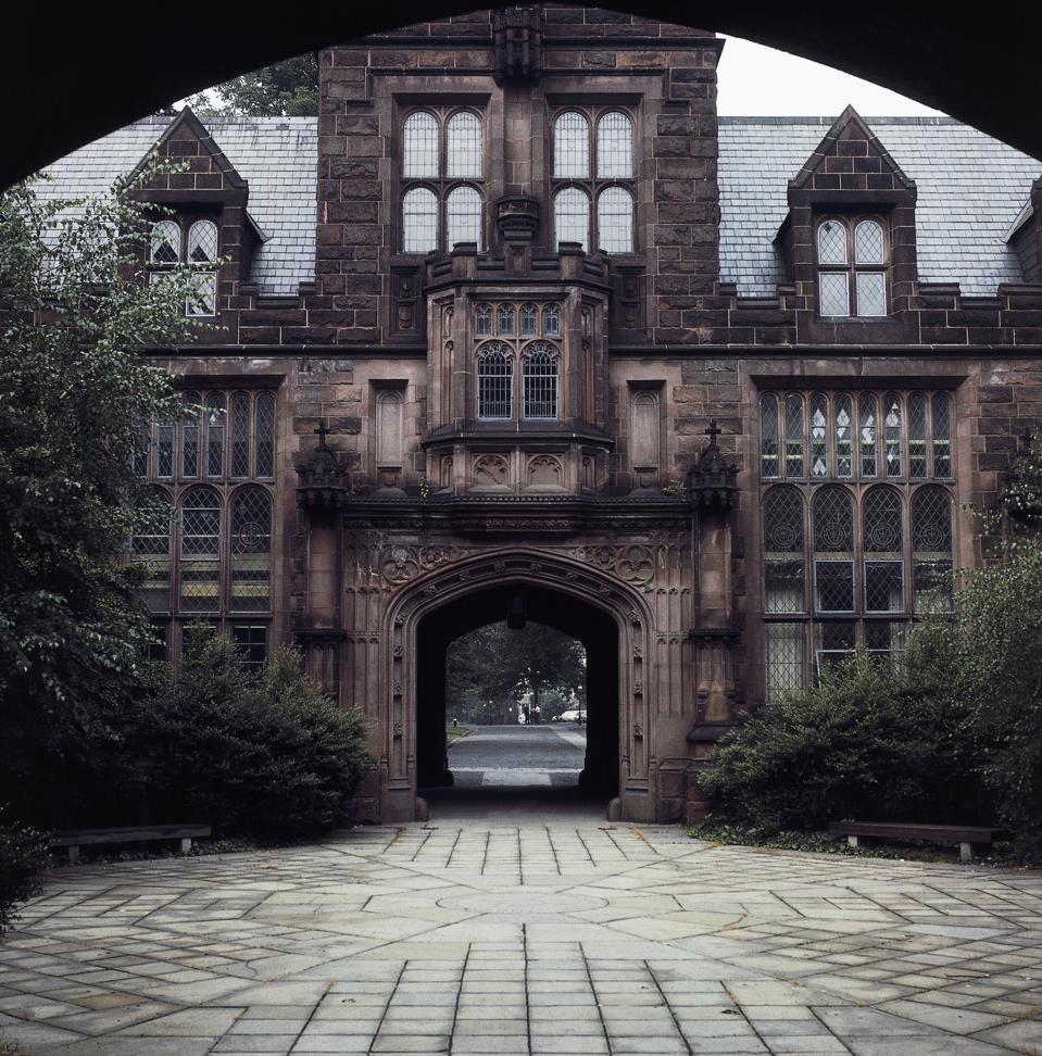 One of entrance gates to Princeton University