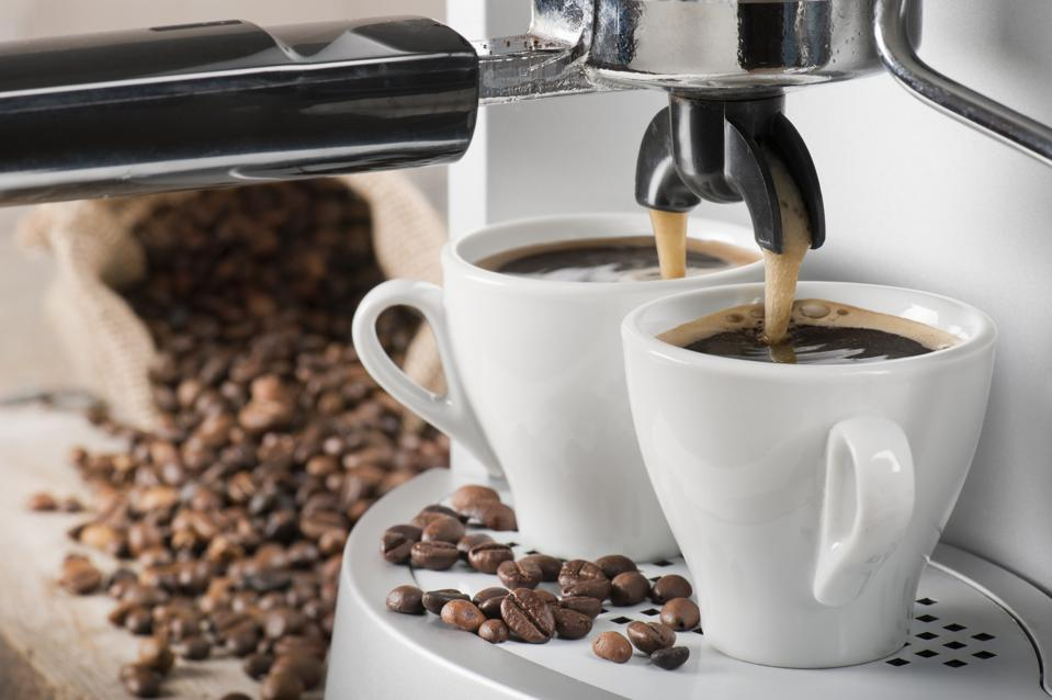 Coffee machine and coffee beans