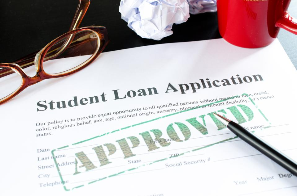 student loan application - approved