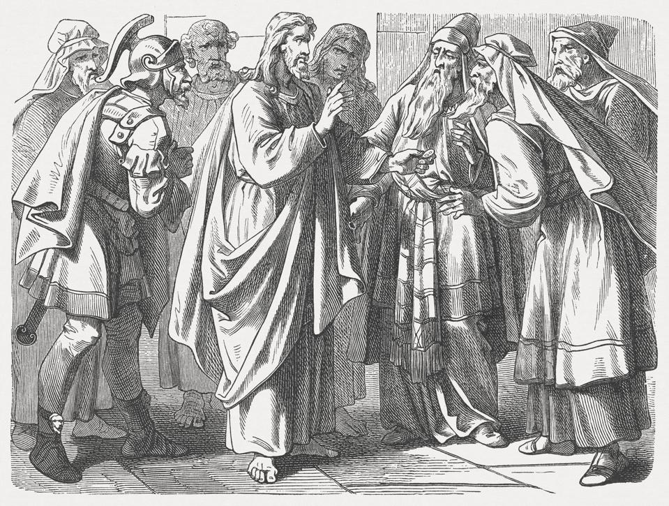 Paying Taxes to Caesar (Mark 12, 13-17), published in 1877