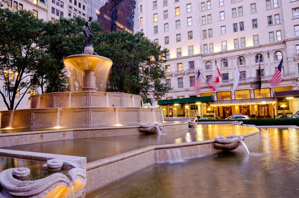 Pulitzer Fountain at Grand Army Plaza in New York City