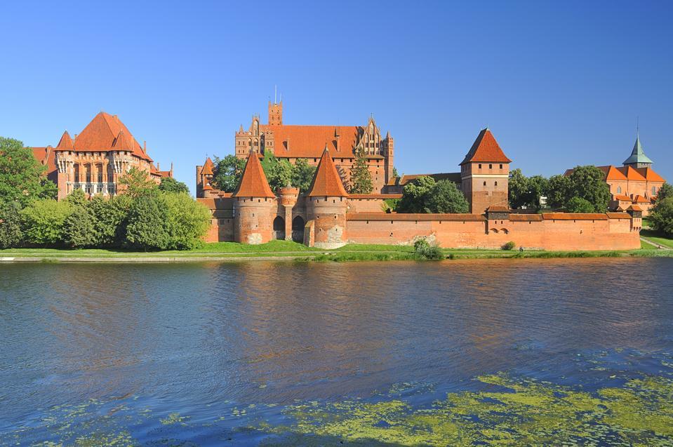 The medieval castle in Malbork. Poland.