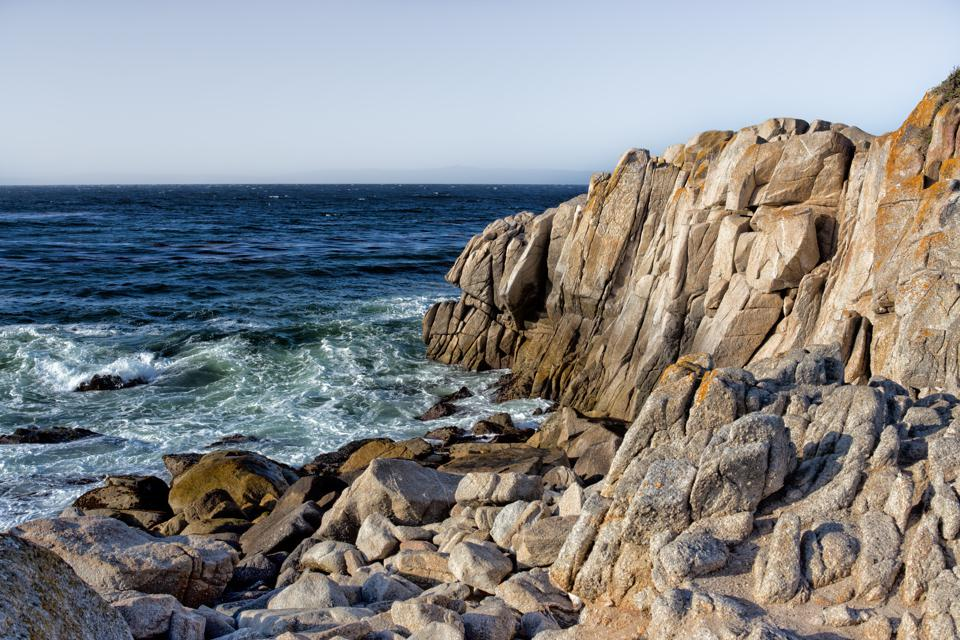 Ocean Waves at Lover's Point in Pacific Grove
