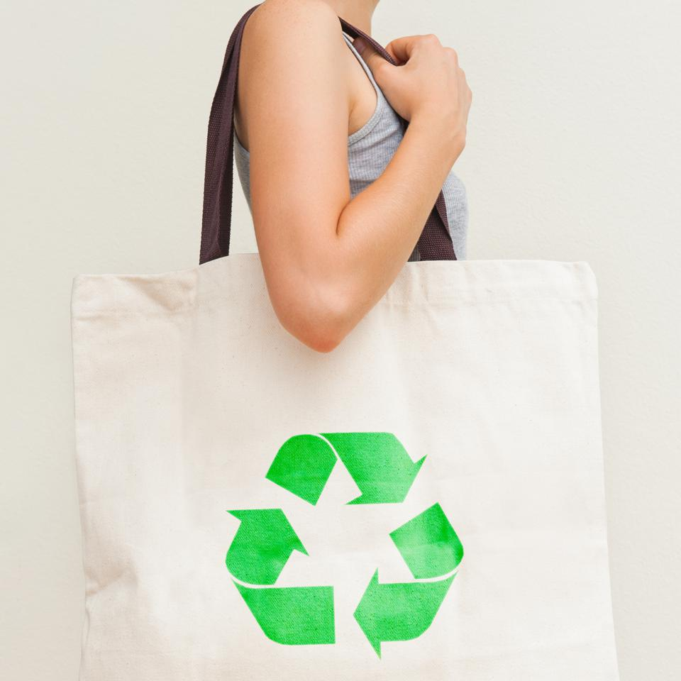Flax eco bag ″Recycling″ sustainability shopping SAP