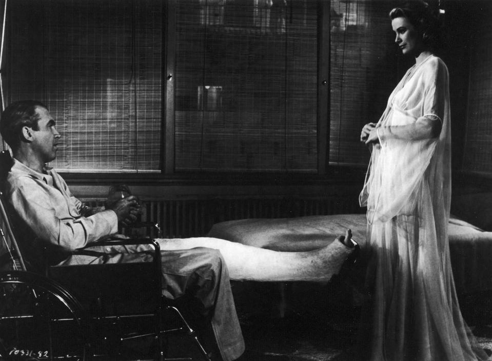Jimmy Stewart & Grace Kelly In 'Rear Window'