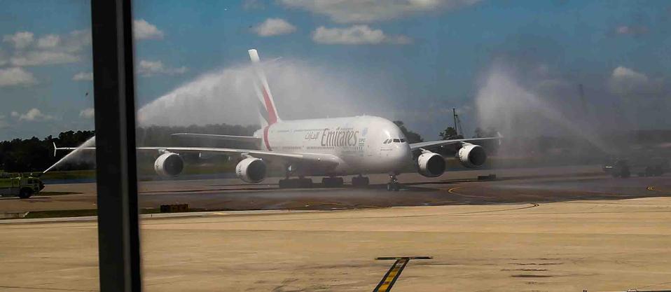Emirates MCO Orlando Launch: Flight Arrival