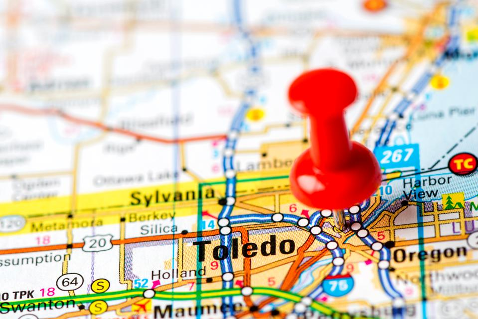 Toledo, OH, where residents will vote on March 17 on Issue 1, a 22% income tax hike.