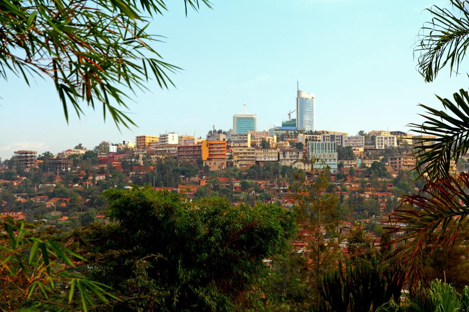 Downtown Kigali, Rwanda. It's one of the best places to visit.