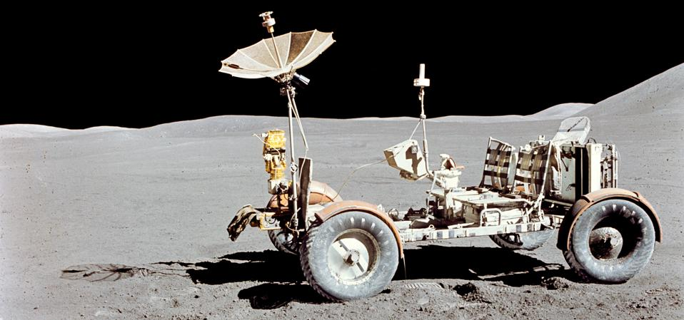 Apollo 15 Lunar Roving Vehicle on the moon.