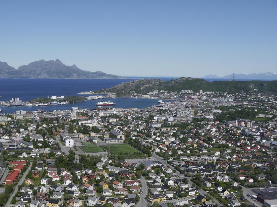 Bodø airial view, north Norway
