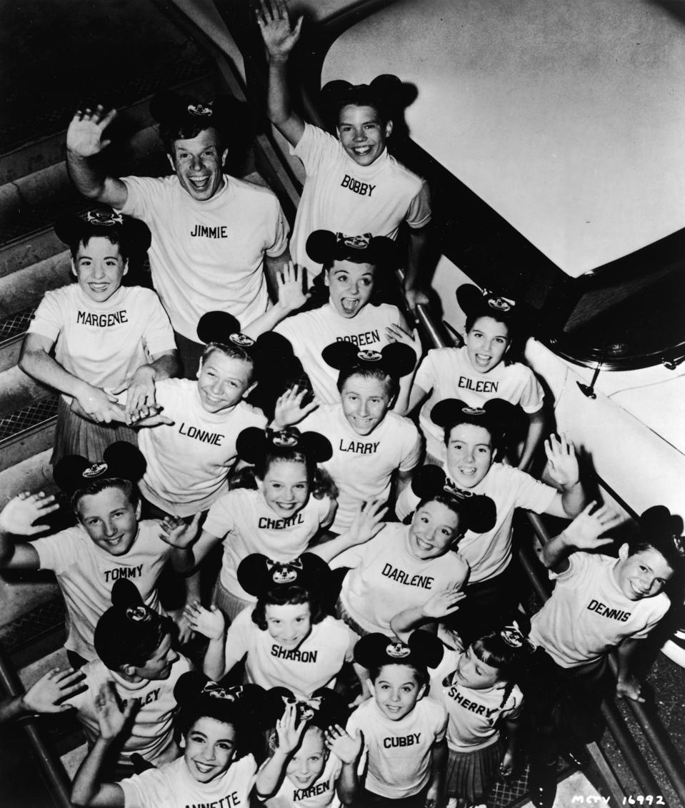 Group portrait of 'Micky Mouse Club' cast