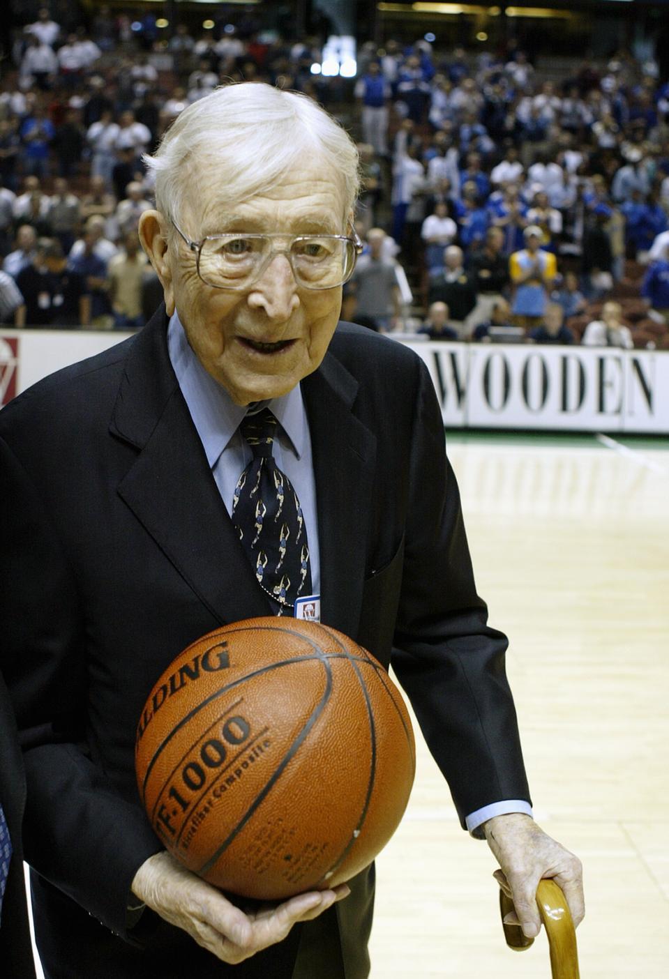 Legendary UCLA head basketball coach John Wooden.
