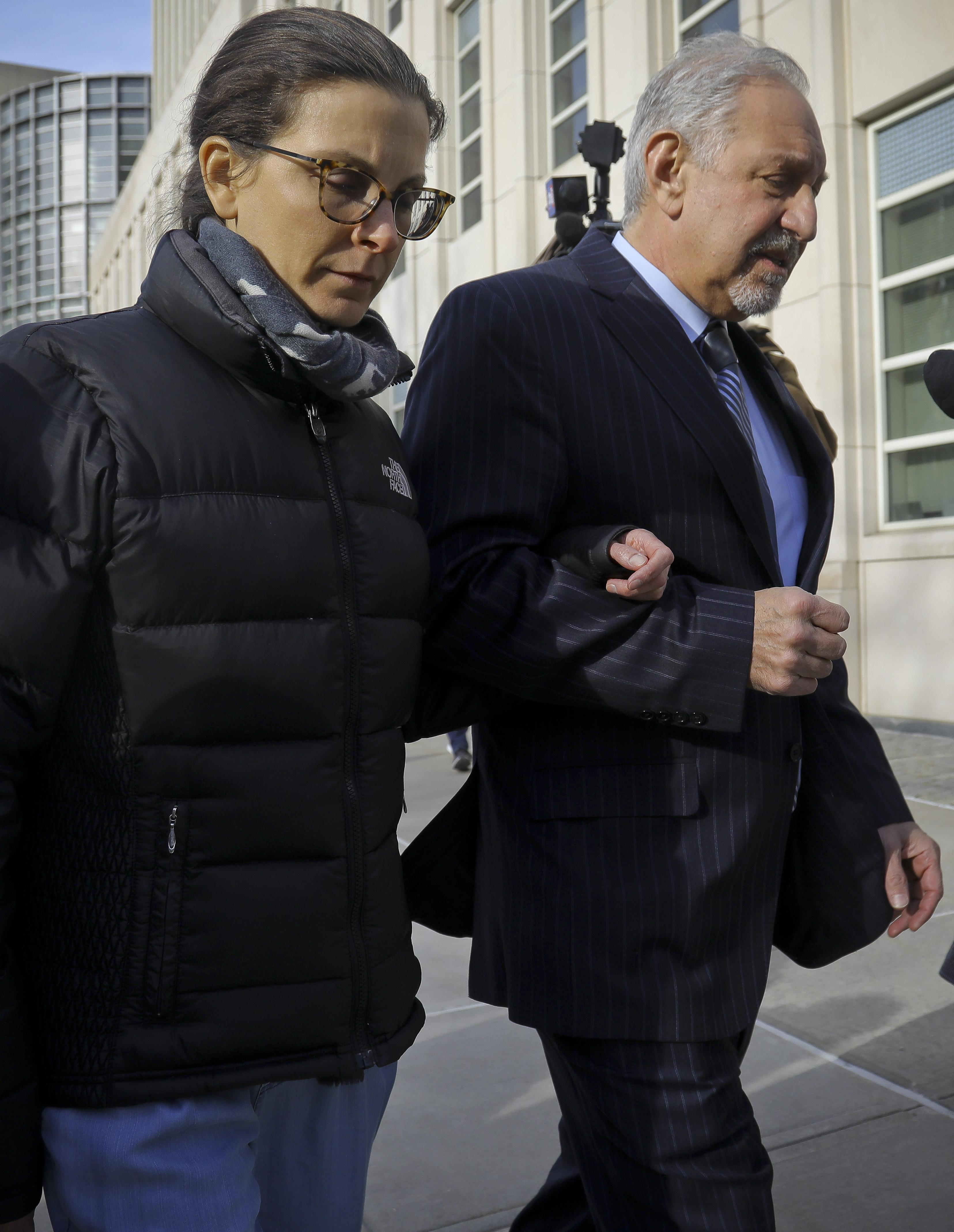Clare Bronfman leaves Brooklyn Federal Court with lawyer Mark Geragos
