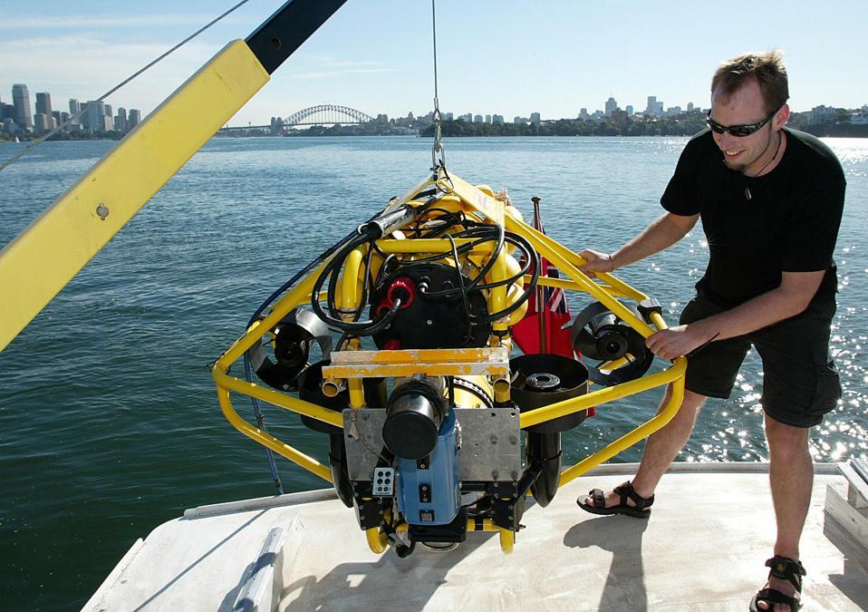 Robotic engineer Tobias Kaupp prepares t