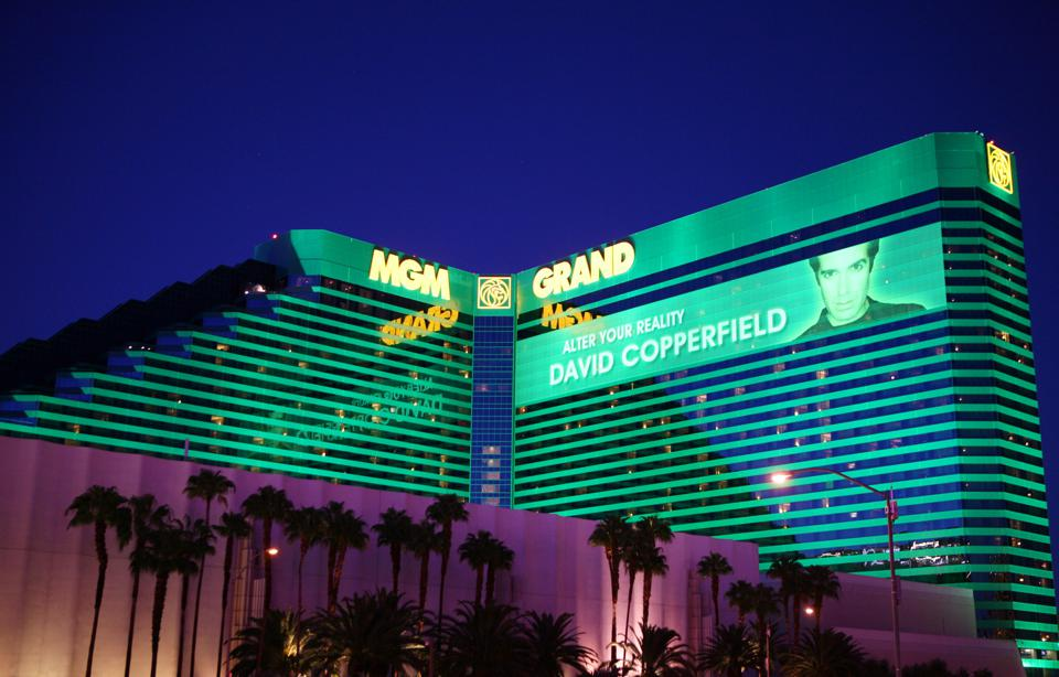 General Views of Casinos: MGM Grand, Tropicana, and Wynn Properties