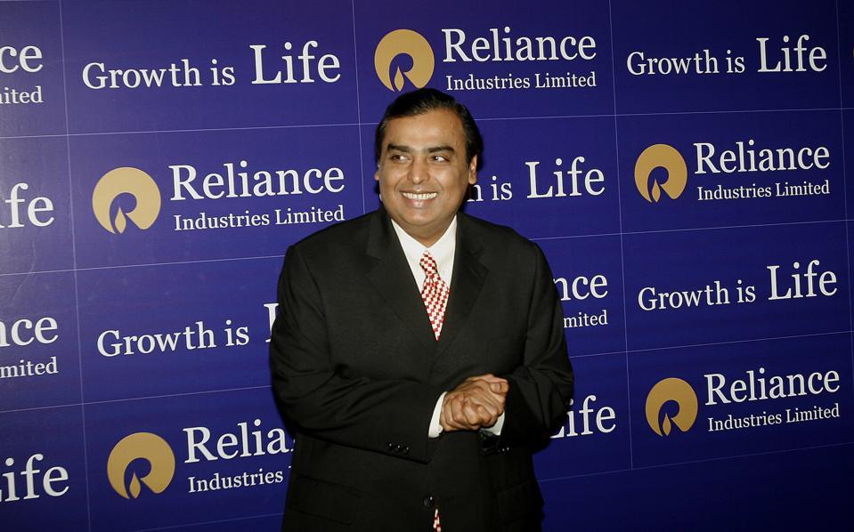 Mukesh Ambani, chairman and managing director of Reliance Industries