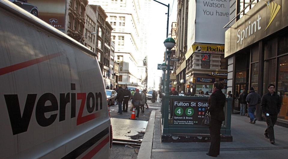 Verizon service van in New York City