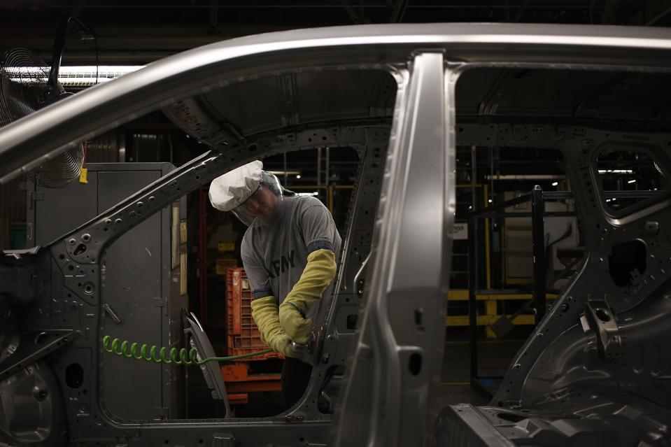 Operations Inside A Nissan Motor Co. Facility