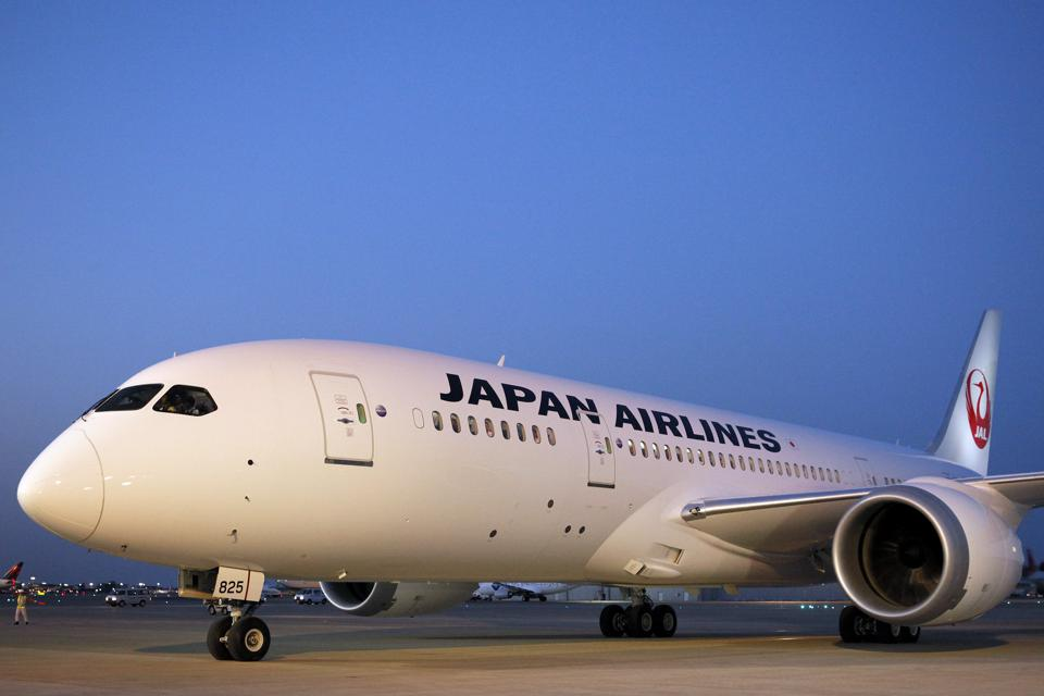 First Boeing 787 Dreamliner For JAL Arrives At Narita Airport