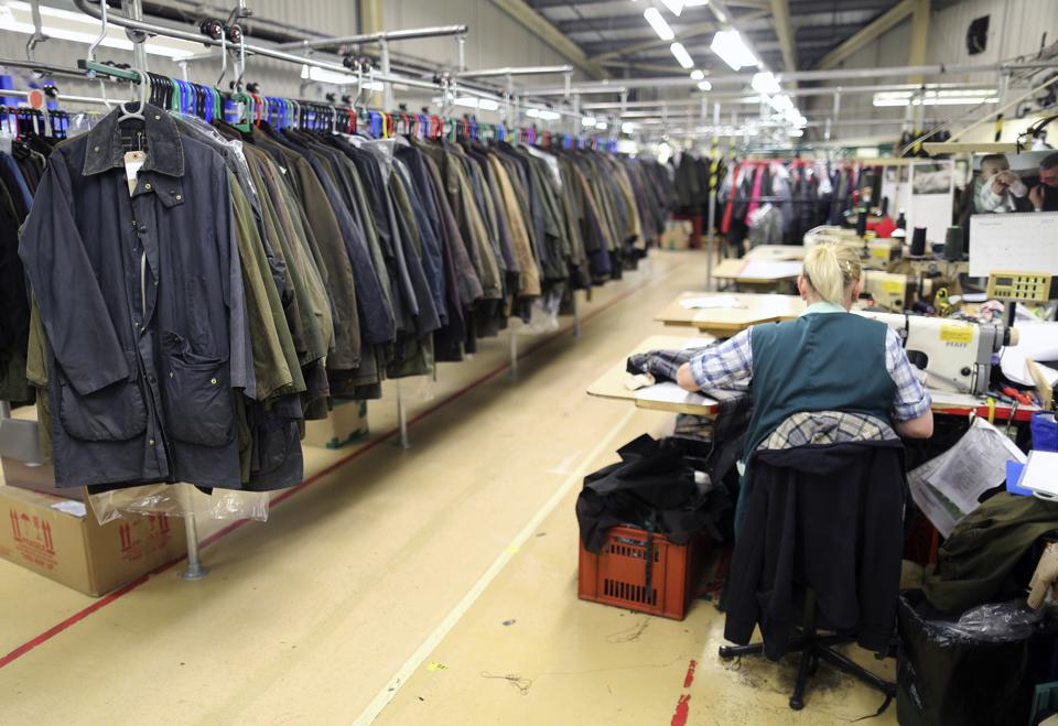 U.K. Manufacturing At The Barbour Production Factory